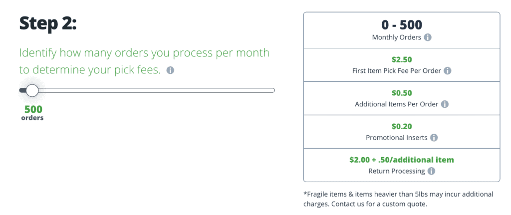 shipmonk fulfillment fees