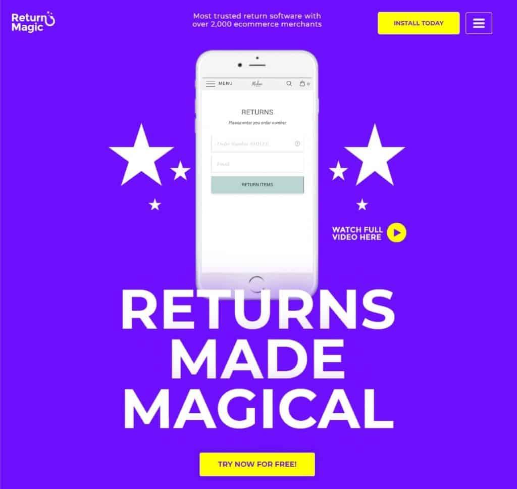 return-magic-home-page