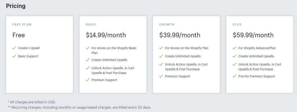 upseller-pricing